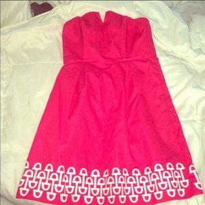 Vineyard Vines Pink Strapless Dress